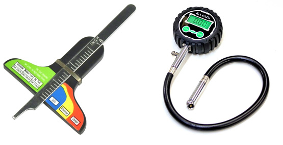 タイヤ残りゲージ+タイヤ空気圧計